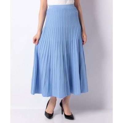 en recre 【TORRAZZO DONNA】プリーツニットスカート(サックス)