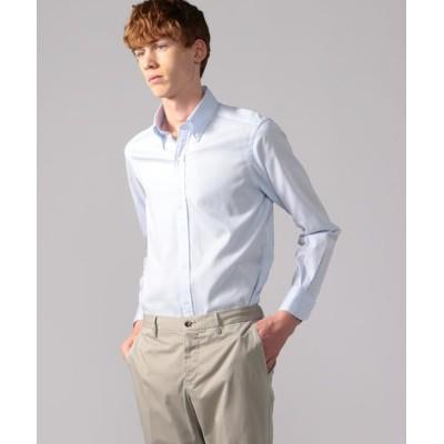TOMORROWLAND/トゥモローランド 120/2コットンピケ ワイドカラー ドレスシャツ NEW WIDE-5 63 ライトブルー 38