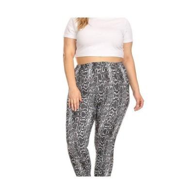 ホワイトマーク カジュアルパンツ ボトムス レディース Plus Size Printed Leggings Gray