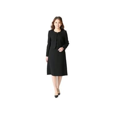 (マーガレット)marguerite m455 喪服 ブラックフォーマル レディース アンサンブル 礼服 (レギュラー丈 11 号)