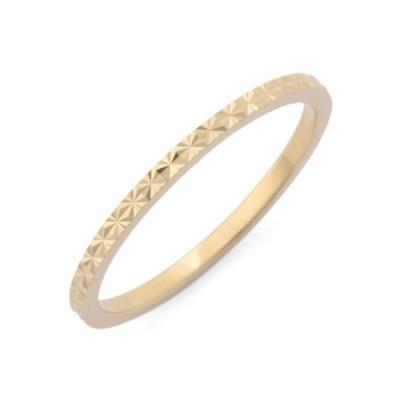 指輪 カットワーク極光細 ピンキーリング