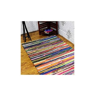 Rugsotic Carpets Hand Woven Flat Weave Kelim Cotton 3'x5' Area Rug Contempo
