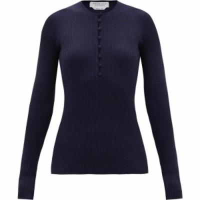 ガブリエラ ハースト Gabriela Hearst レディース ニット・セーター トップス Jenny rib-knitted cashmere-blend sweater Navy