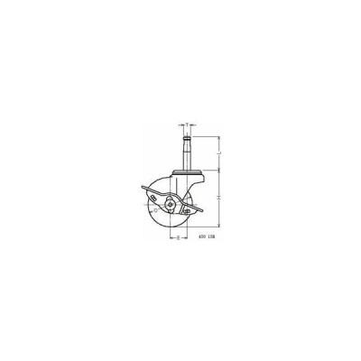 ハンマーキャスター 45015B-R50 ゴム