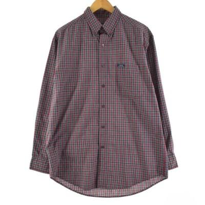 ラルフローレン Ralph Lauren CHAPS チャップス 長袖 ボタンダウンチェックシャツ メンズM /eaa108460