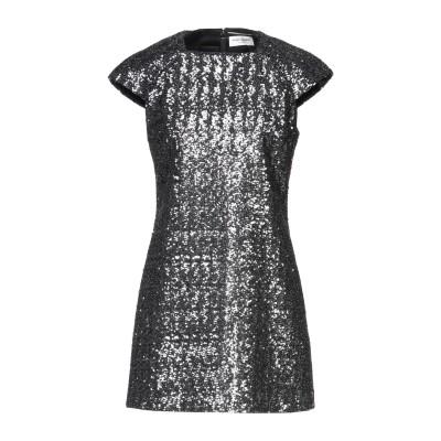 SAINT LAURENT ミニワンピース&ドレス 鉛色 44 ポリエステル 100% ミニワンピース&ドレス