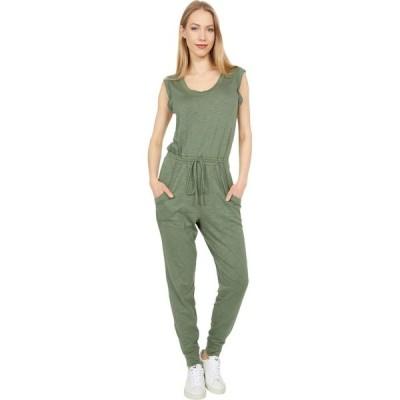 ラッキーブランド Lucky Brand レディース オールインワン ジャンプスーツ ワンピース・ドレス Easy Breezy Knit Jumpsuit Bronze Green