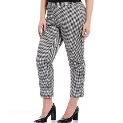 インベストメンツ レディース カジュアルパンツ ボトムス Plus Size the PARK AVE fit Elite Stretch Gingham Ankle Pants