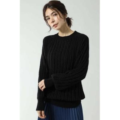 ROSE BUD/ローズ バッド LOREX LINE KNIT ブラック -
