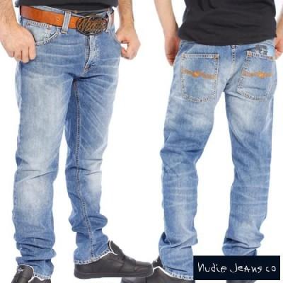 ヌーディージーンズ ハンクレイ ウォーンインディゴ Nudie Jeans Hank Rey Mid Worn Indigo