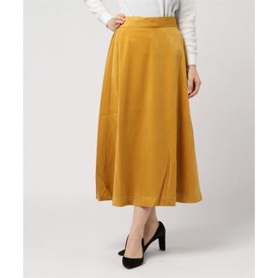 スカート 別珍ベロアロングフレアスカート