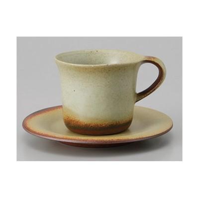 和食器  美濃焼 土物 フローラ備前コーヒー皿 14.0cm【ソーサー単品】