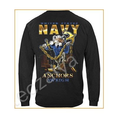 United States Navy USN Shirt - US Navy Long Sleeve Shirts -Navy Medium並行輸入品