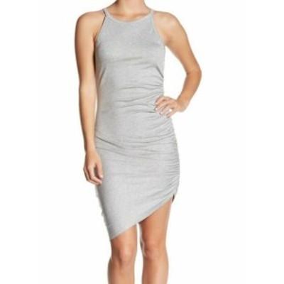 Soprano ソプラノ ファッション ドレス Soprano Womens Ruched Knit Sleeveless Gray Size Medium M Sheath Dress