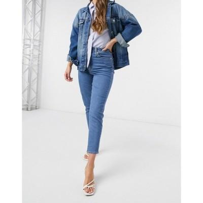 リーバイス レディース デニムパンツ ボトムス Levi's high waisted tapered jeans in washed blue Fyi