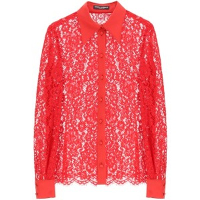 DOLCE&GABBANA/ドルチェ&ガッバーナ レースシャツ ROSSO BRILLANTE Dolce & gabbana cordonetto lace shirt レディース F5L80T HLMEA
