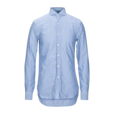 DOPPIAA シャツ スカイブルー 39 コットン 100% シャツ