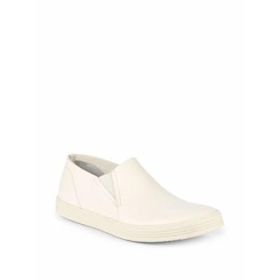 リックオーウェンズ メンズ スニーカー Leather Slip-On Sneakers