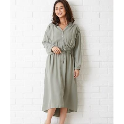 【Green Parks】。スキッパーワンピース (ワンピース)Dress