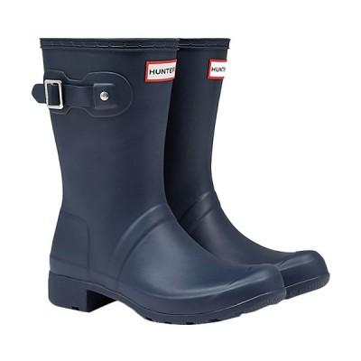 ハンター(HUNTER) レディース オリジナル ツアー ショートブーツ ネイビー WFS1026RMA NVY レインブーツ 長靴 防水 カジュアル レインシューズ