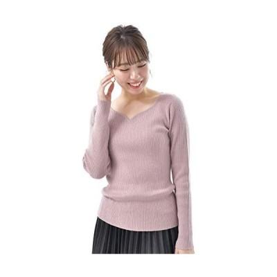 (アール・ピー・エス) r・p・s ハートネックリブニットプルオーバー 0950800262 (ピンク M)