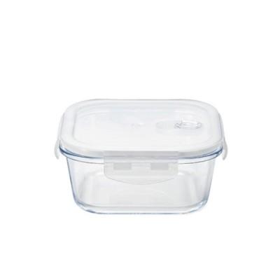 密封保存容器 耐熱ガラス 4面ロック 角スクエア 750ml クックロック アデリア/石塚硝子(H-8762) キッチン、台所用品