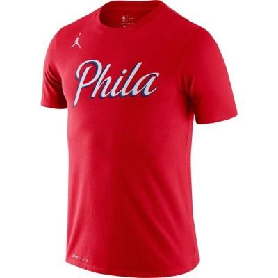 ナイキ Nike メンズ Tシャツ ドライフィット トップス Jordan Philadelphia 76ers Red Dri-FIT Statement Edition T-Shirt