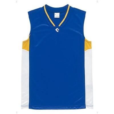 [CONVERSE]コンバースジュニアゲームシャツ(CB54702)(2511)Rブルー/ホワイト[取寄商品]