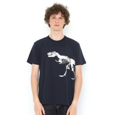 tシャツ Tシャツ ベーシックTシャツ/ティラノサウルス(ネイビー)