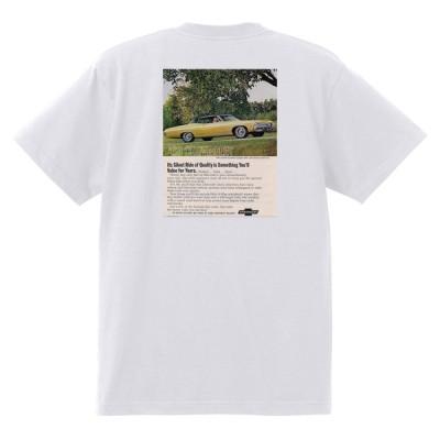アドバタイジング シボレー インパラ 1968 Tシャツ 026 白 アメ車 ホットロッドローライダー 広告 アドバタイズメント カプリス