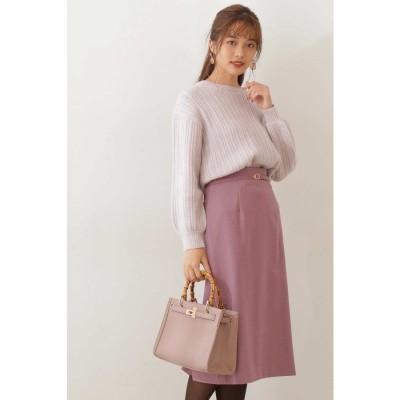バックシャンタイトスカート ピンク