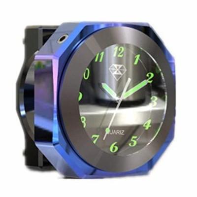 オートバイハンドルバーマウントクールスタイリングダイヤルクォーツ時計モトルミナス合金時計タイムゲージ防水時計装飾用ストリートバイ