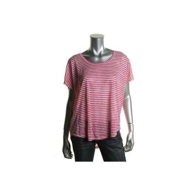 トップス ブラウス ジョア Joie 3664 レディース Maddie ピンク Linen ストライプd Scoop Neck カジュアル Top Shirt M