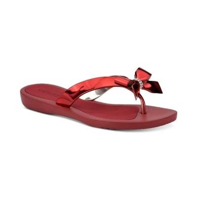 ゲス サンダル シューズ レディース Tutu Bow Flip Flops Red