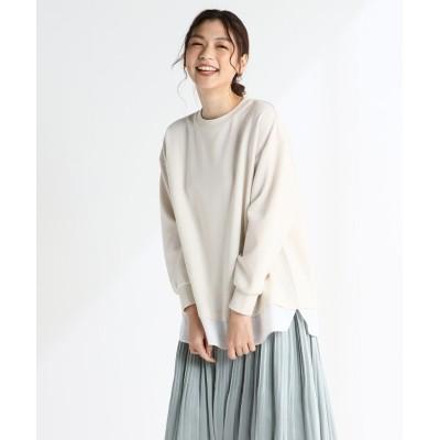 (Honeys/ハニーズ)裾レイヤードプルオーバー/レディース アイボリー