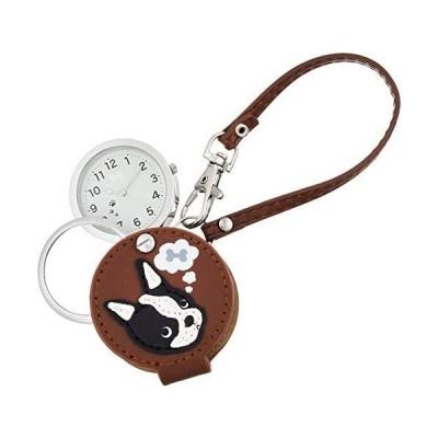 [フィールドワーク] 懐中時計 ボストンテリア ルーペ 付き LW050-4 レディース ブラウン (ブラウン)
