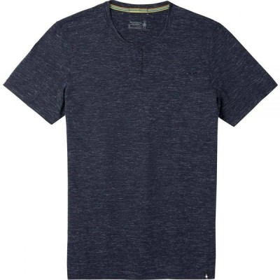 スマートウール Smartwool メンズ Tシャツ ヘンリーシャツ トップス Everyday Exploration Short - Sleeve Henley Shirt Deep Navy Heather