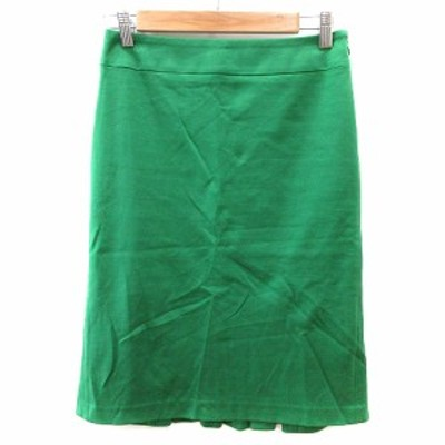 【中古】クローラ crolla タイトスカート ひざ丈 36 緑 グリーン /AU レディース