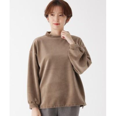【エッシュ】 ふんわりコール裾絞りプルオーバー レディース タバコブラウン 42(L/ミセス) esche