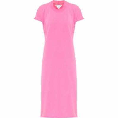 ボッテガ ヴェネタ Bottega Veneta レディース ワンピース ミドル丈 ワンピース・ドレス Jersey midi dress Milkshake Red