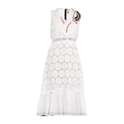 ANTONIO MARRAS 7分丈ワンピース・ドレス ホワイト 38 コットン 100% 7分丈ワンピース・ドレス