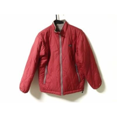 エーグル AIGLE ダウンジャケット サイズXS レディース レッド×ベージュ 冬物【中古】20200204