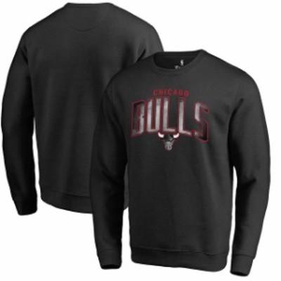 Fanatics Branded ファナティクス ブランド スポーツ用品  Fanatics Branded Chicago Bulls Black Arch Smoke Pullover