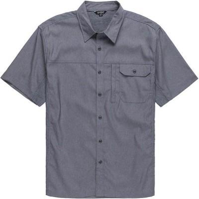 ストイック シャツ メンズ トップス Solid Performance Woven Button-Down Shirt - Men's Light Gray