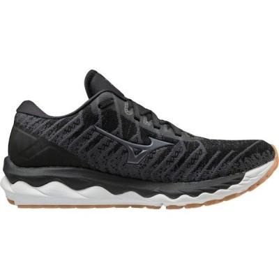 ミズノ シューズ レディース ランニング Mizuno Women's Wave Sky 4 Waveknit Running Shoes Black 01