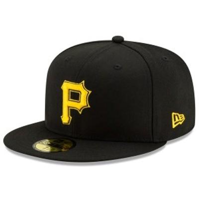 ニューエラ メンズ 帽子 アクセサリー Pittsburgh Pirates New Era Alternate 2 Authentic Collection OnField 59FIFTY Fitted Hat Black
