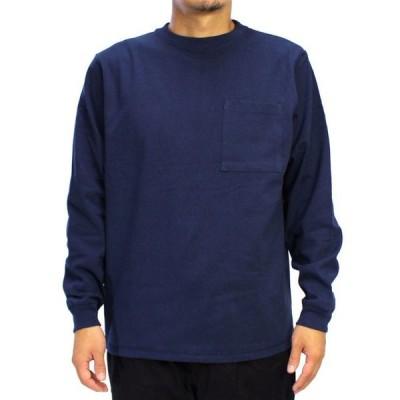 Goodwear グッドウェア USAコットン袖リブポケットロンT ネイビー 紺 2W7-8518 S M L XL 長袖 Tシャツ 無地 胸ポケ 肉厚 袖口リブ おしゃれ 1枚までネコポスOK
