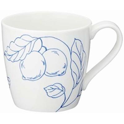 NARUMI(ナルミ) マグカップ デイプラス(Day+) ホワイト 340cc 電子レンジ オーブン 食洗機対応 41285-2889ホワイト レモン&オリーブ柄