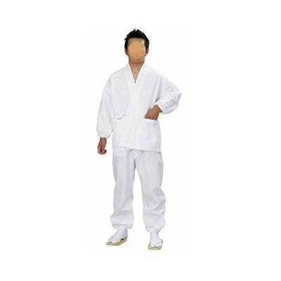神官用 作務衣 白(ao5477) 寺 寺院 神社 僧侶 (LL(適応身長176cm~))