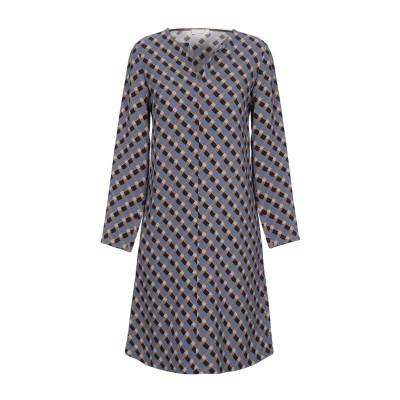 SIYU ミニワンピース&ドレス ブルーグレー 40 レーヨン 95% / ポリウレタン 5% ミニワンピース&ドレス